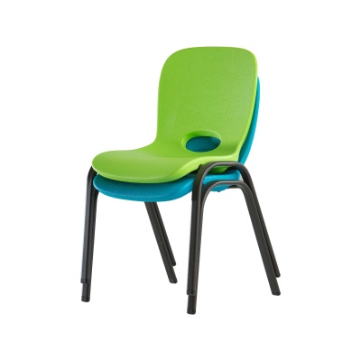 Children's Table and Chairs Combo  (Glacier Blue Chair, Lime Green Chair, Almond Table), image 3