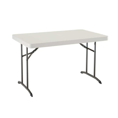 4 ft. Commercial Plastic Folding Tables 30 in. wide (Almond), image 1