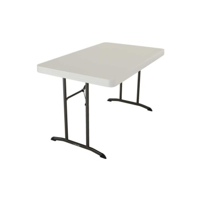 4 ft. Commercial Plastic Folding Tables 30 in. wide (Almond), image 2