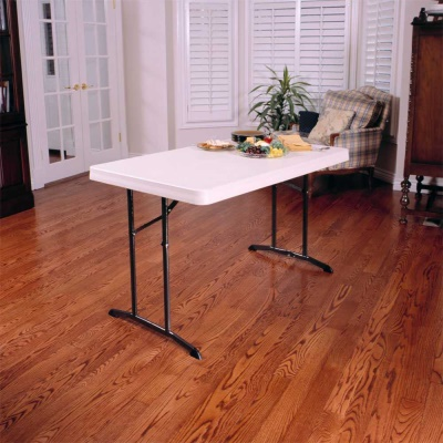 4 ft. Commercial Plastic Folding Tables 30 in. wide (Almond), image 5