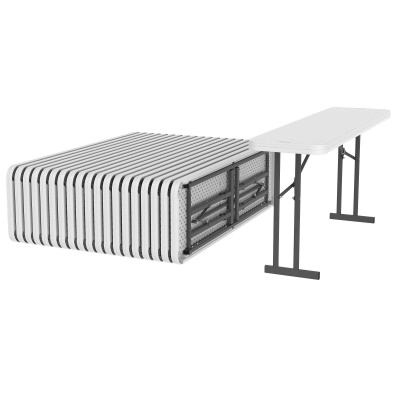 6 ft. Commercial Folding Seminar Table 20 Pack White, image 1