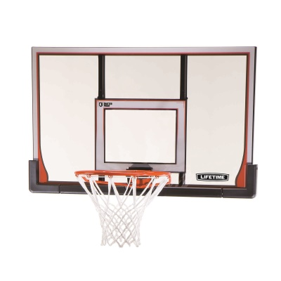 Lifetime 48 in. Elite Steel-Framed Shatterproof Basketball Backboard, Orange Elite Rim Combo, image 1