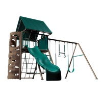 Heavy-Duty Metal Playset with Clubhouse (Earthtone)