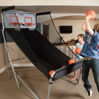 400 double shot arcade style basketball hoops game heavy duty  at virtualis.co