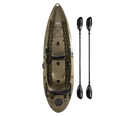10 ft Sit-on-Top Sport Fisher Kayak (Olive Green), image 1