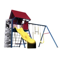 Heavy-Duty Metal Playset with Clubhouse (Primary Colors)