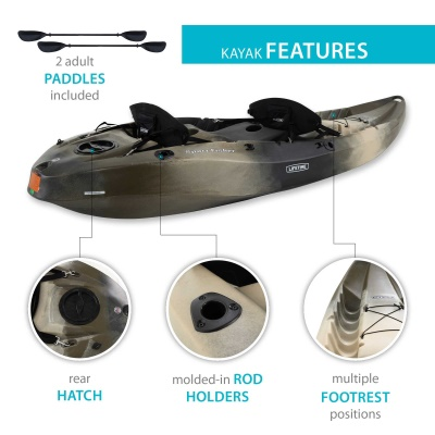 10 ft Sit-On-Top Sport Fisher Kayak (Camouflage), image 4
