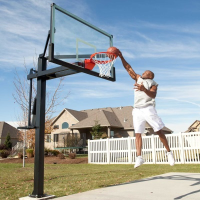 Mammoth 72 In. Glass Basketball Hoop, image 3
