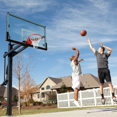 Mammoth 72 In. Glass Basketball Hoop, image 4