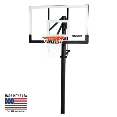 Lifetime 54 in. In-Ground Pump Adjust Basketball Hoop, Acrylic, image 1