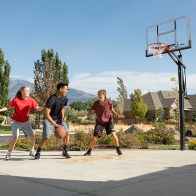 Lifetime 54 in. In-Ground Pump Adjust Basketball Hoop, Acrylic, image 10