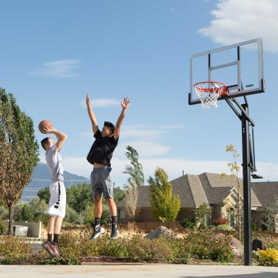 Lifetime 54 in. In-Ground Pump Adjust Basketball Hoop, Acrylic, image 11