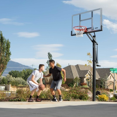 Lifetime 54 in. In-Ground Pump Adjust Basketball Hoop, Acrylic, image 12