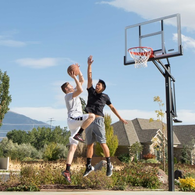 Lifetime 54 in. In-Ground Pump Adjust Basketball Hoop, Acrylic, image 13