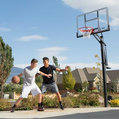 Lifetime 54 in. In-Ground Pump Adjust Basketball Hoop, Acrylic, image 14