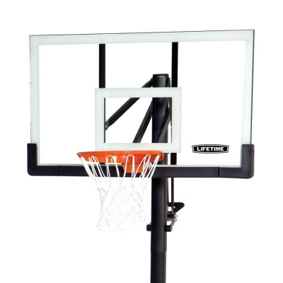 Lifetime 54 in. In-Ground Pump Adjust Basketball Hoop, Acrylic, image 2