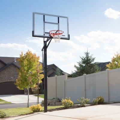 Lifetime 54 in. In-Ground Pump Adjust Basketball Hoop, Acrylic, image 5