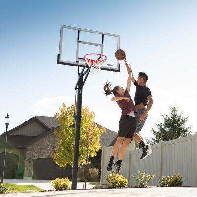 Lifetime 54 in. In-Ground Pump Adjust Basketball Hoop, Acrylic, image 6
