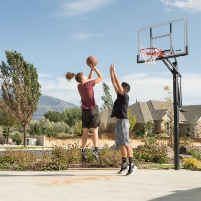 Lifetime 54 in. In-Ground Pump Adjust Basketball Hoop, Acrylic, image 7