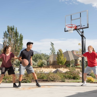 Lifetime 54 in. In-Ground Pump Adjust Basketball Hoop, Acrylic, image 8