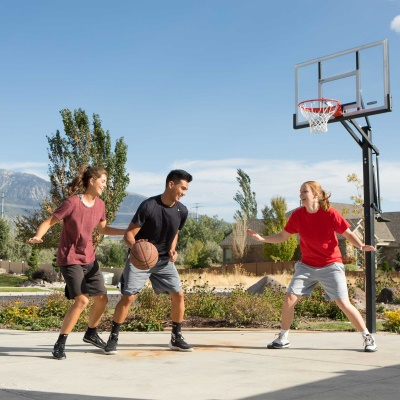 Lifetime 54 in. In-Ground Pump Adjust Basketball Hoop, Acrylic, image 9