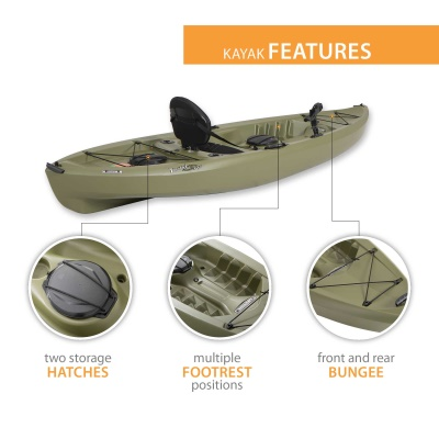 Lifetime Tamarack 120 in. Sit-On-Top Angler Kayak, image 4