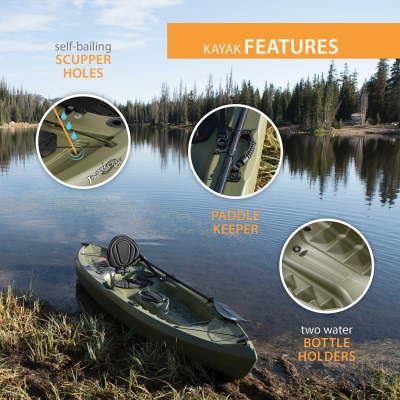 Lifetime Tamarack 120 in. Sit-On-Top Angler Kayak, image 5