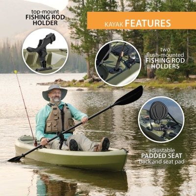Lifetime Tamarack 120 in. Sit-On-Top Angler Kayak, image 6