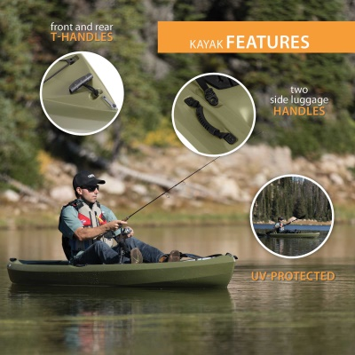 Lifetime Tamarack 120 in. Sit-On-Top Angler Kayak, image 7
