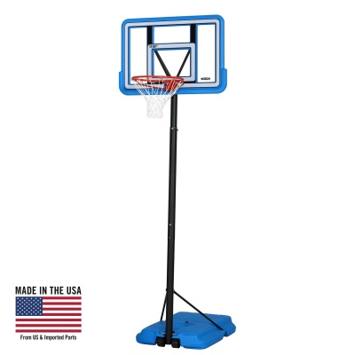 44 in. Pro Court Portable Basketball Hoop with Blue Base, image 1