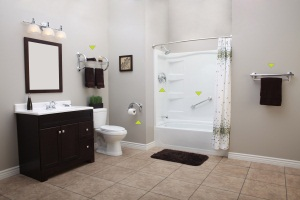 New Decorative Line of Bathroom Safety Grab Bars Hold Up to 500lbs