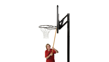 First Adjustable Basketball Hoop