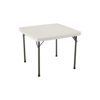 37-Inch Square Folding Table (almond)