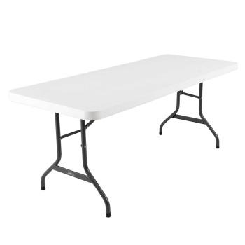 6-Foot Commercial Folding Table (White Granite)