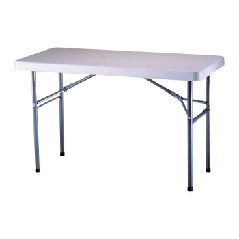 4-Foot Commercial Folding Table (white)