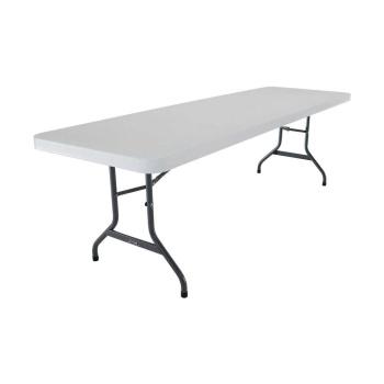 8-Foot Commercial Folding Table (white granite)