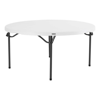 60-Inch Round Commercial Nesting Table (white granite)
