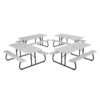 6-Foot Picnic Table (white granite)