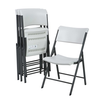 Contemporary Commercial Folding Chair (almond) 4 pack