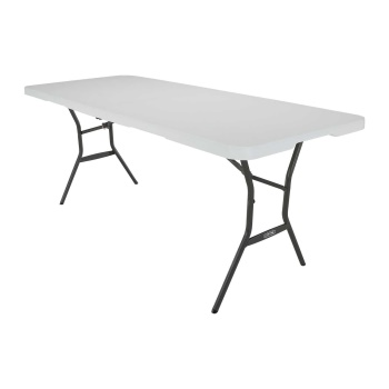 6-Foot Light Commercial Folding Table (beige)