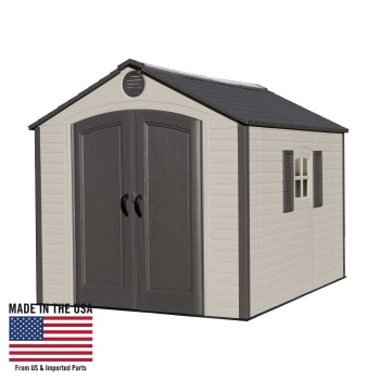 8 ft. x 10 ft. Storage Shed (1 window, full skylight)