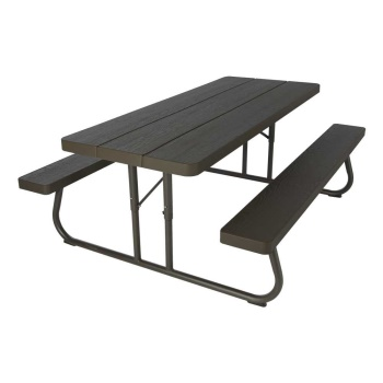 6-Foot Picnic Table (Brown)
