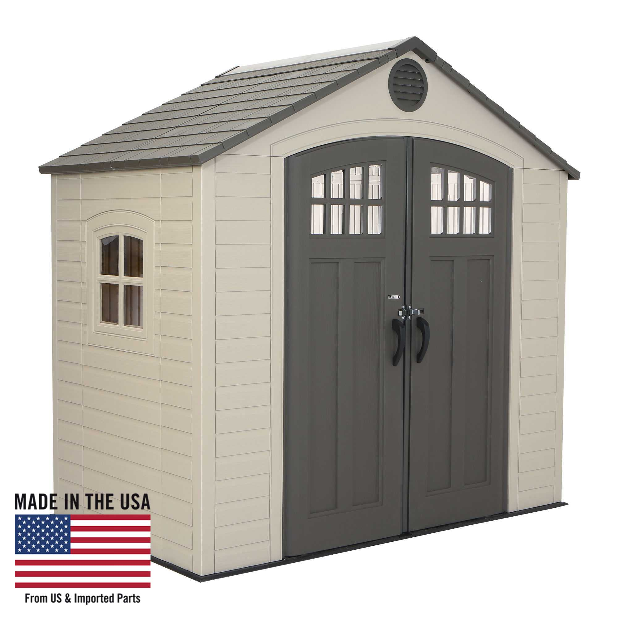 8' x 5' Storage Shed (1 Window)