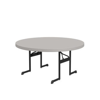 60-Inch Round Professional Folding Table (putty)