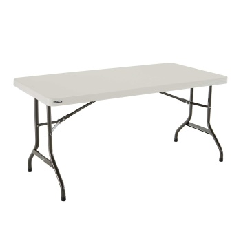 5-Foot Commercial Folding Table (almond)