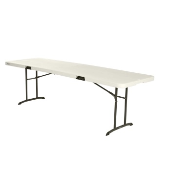 8-Foot Commercial Fold-In-Half Table (almond)