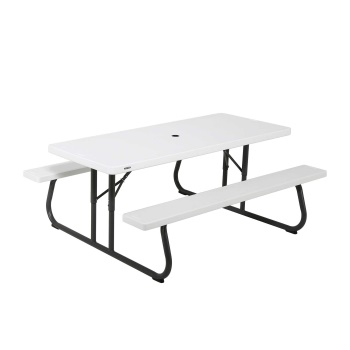 6-Foot Picnic Table (white granite)