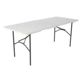 6-Foot Residential Fold-In-Half Table (white granite)
