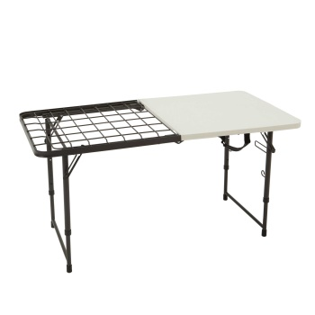 4-Foot Fold-In-Half Cooking Table (Pearl)