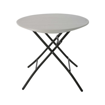 33-Inch Round Folding Table (Almond)